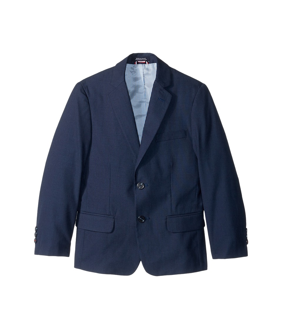 Tommy Hilfiger Kids Sharkskin Blazer (Big Kids) (Dark Blue) Boy