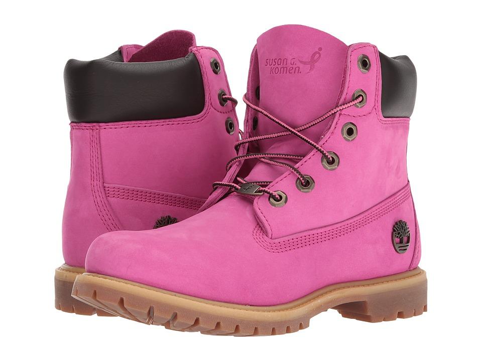 Timberland 6 Waterproof Premium Boot Susan G. Komen (Susan G. Komen Ibis Rose Nubuck) Women