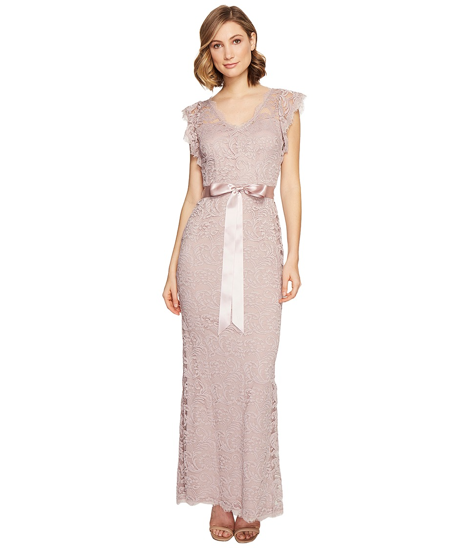 Adrianna Papell - Scroll Lace Mermaid Gown