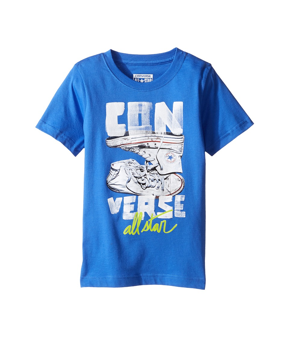 Converse Kids Stack Chucks Tee (Toddler/Little Kids) (Oxygen Blue) Boy