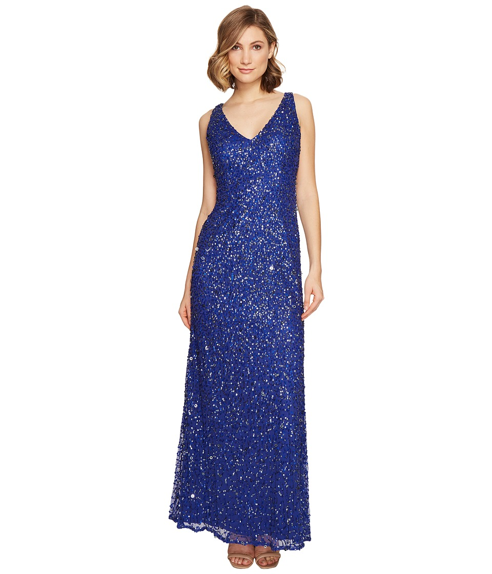 Adrianna Papell - Sleeveless Beaded Mermaid Gown