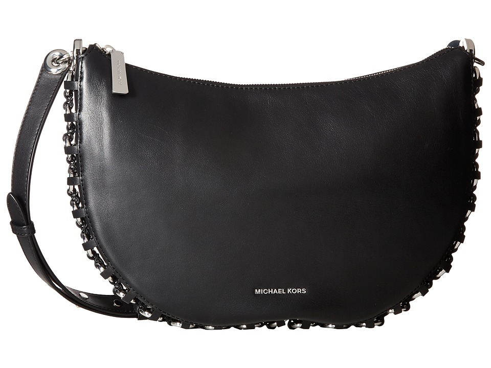 MICHAEL Michael Kors Piper Medium Messenger (Black) Messenger Bags