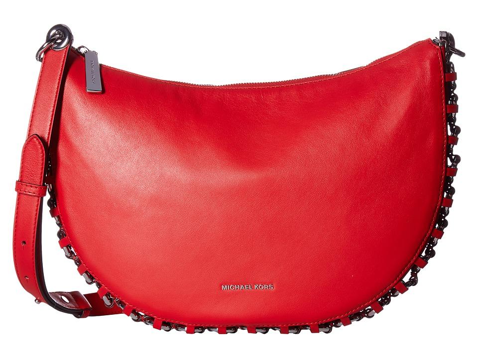 MICHAEL Michael Kors Piper Medium Messenger (Bright Red) Messenger Bags