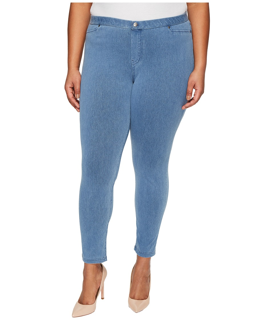 HUE - Plus Size Super Smooth Denim Leggings (Vintage Wash) Womens Jeans