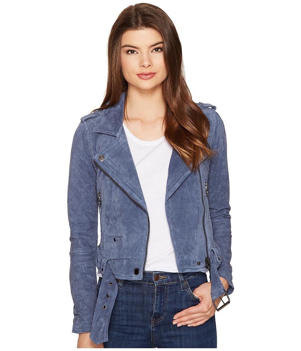 Blank NYC - Suede Moto Jacket in Slate Blue (Slate Blue) ...