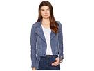 Blank NYC Suede Moto Jacket in Slate Blue
