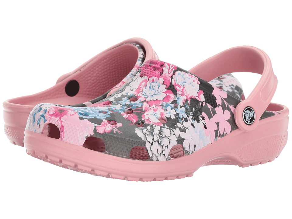 Crocs Classic Graphic Clog (Cashmere Rose) Clog/Mule Shoes