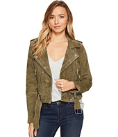 Blank NYC - Suede Moto Jacket in Burnt Sage