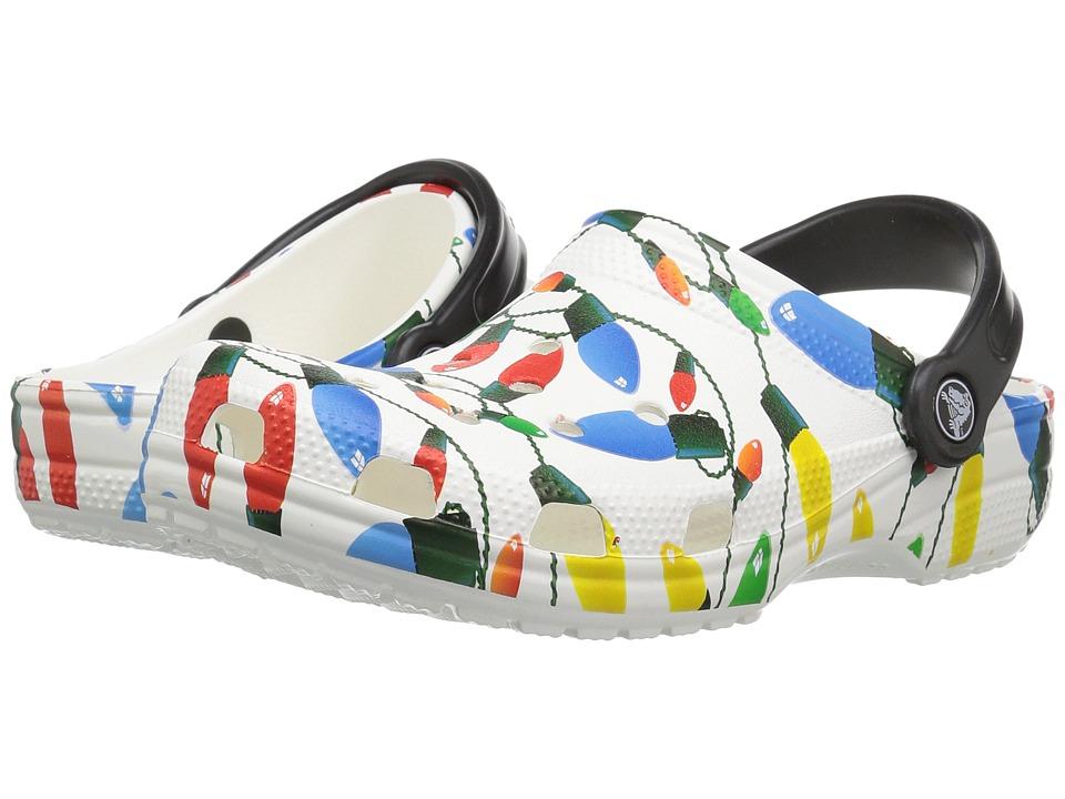 Crocs Classic Holiday Clog (White) Clog/Mule Shoes
