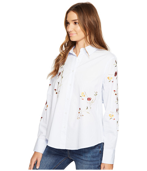 Blank nyc embroidered shirt in bloom at pm