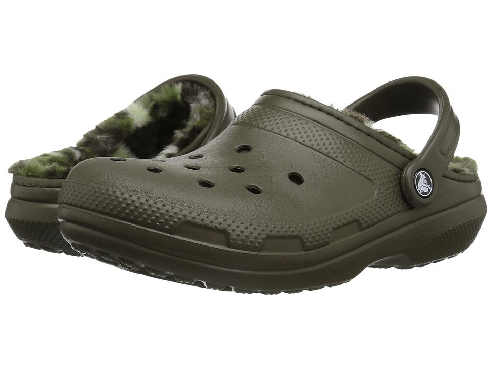 Crocs Classic Lined Graphic Clog (Dark Camo Green) Clog Shoes