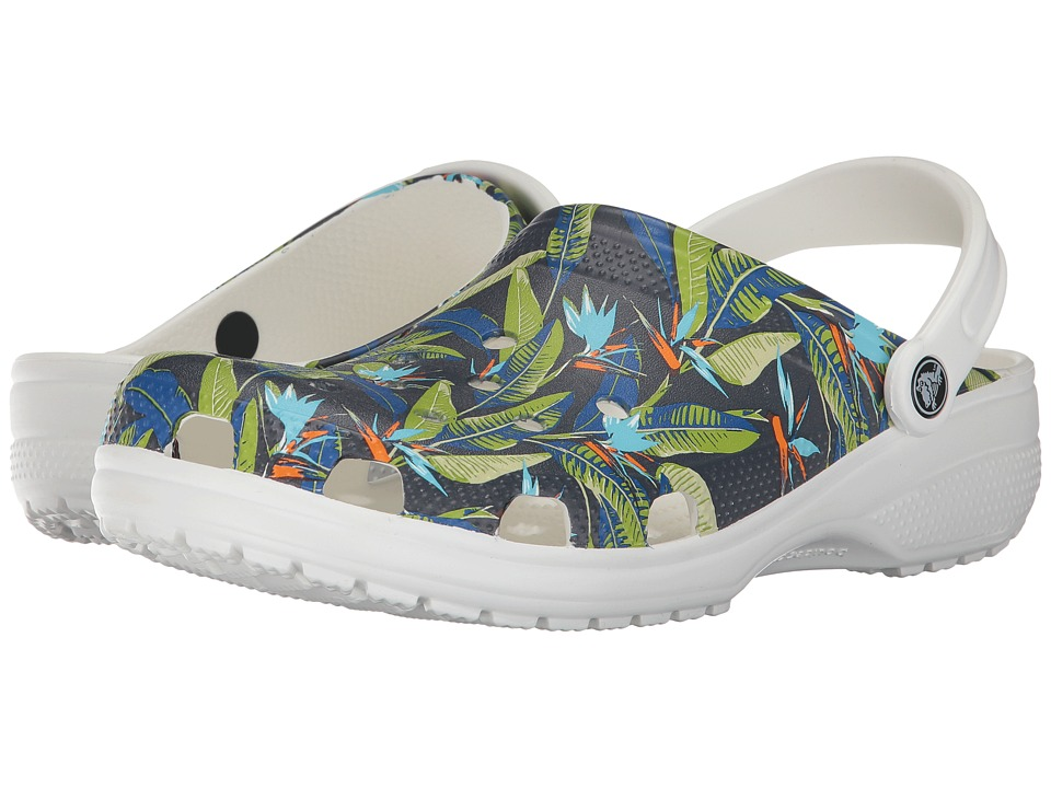 Crocs Classic Tropical IV Clog (White) Clog/Mule Shoes