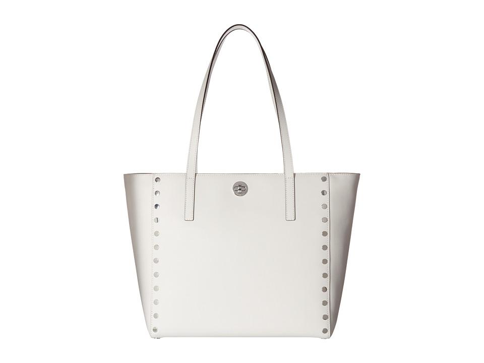 MICHAEL Michael Kors - Rivington Stud Large Tote (Optic White) Tote Handbags