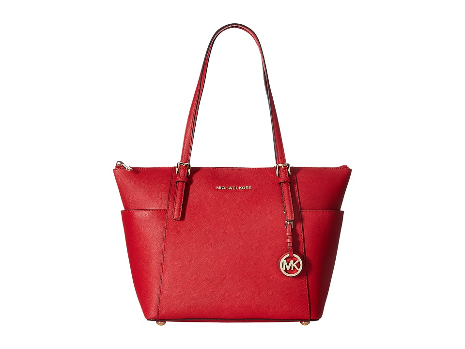 Michael Kors Jet Set Item East West Top-Zip Tote (Bright ...