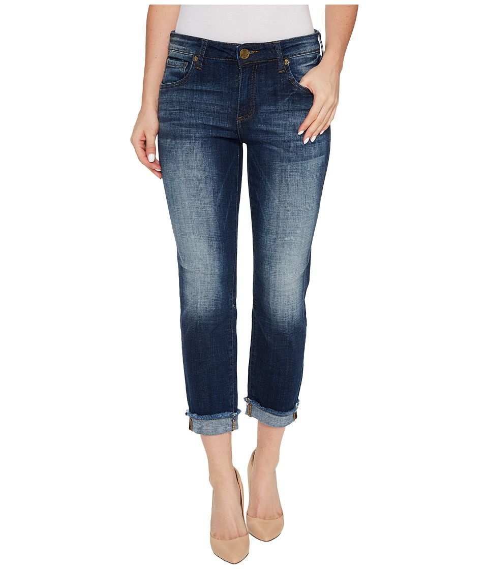 KUT from the Kloth Amy Crop Straight Leg-Roll Up Frey in Celebration (Celebration) Women