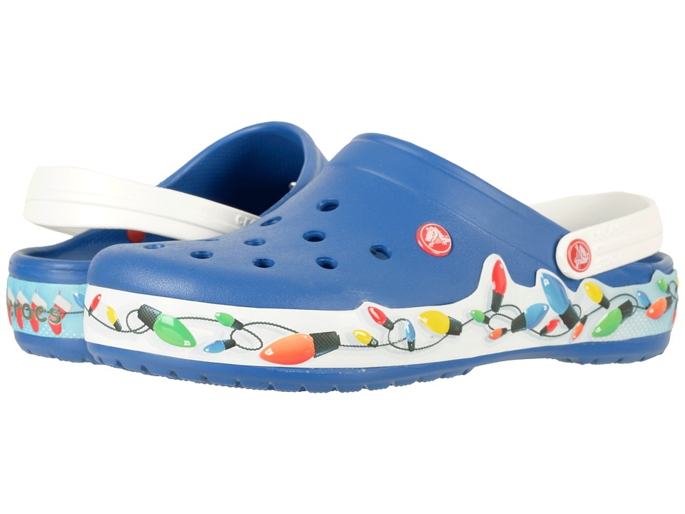 Crocs Crocband Holiday Lights Clog (Blue Jean/White) Clog Shoes