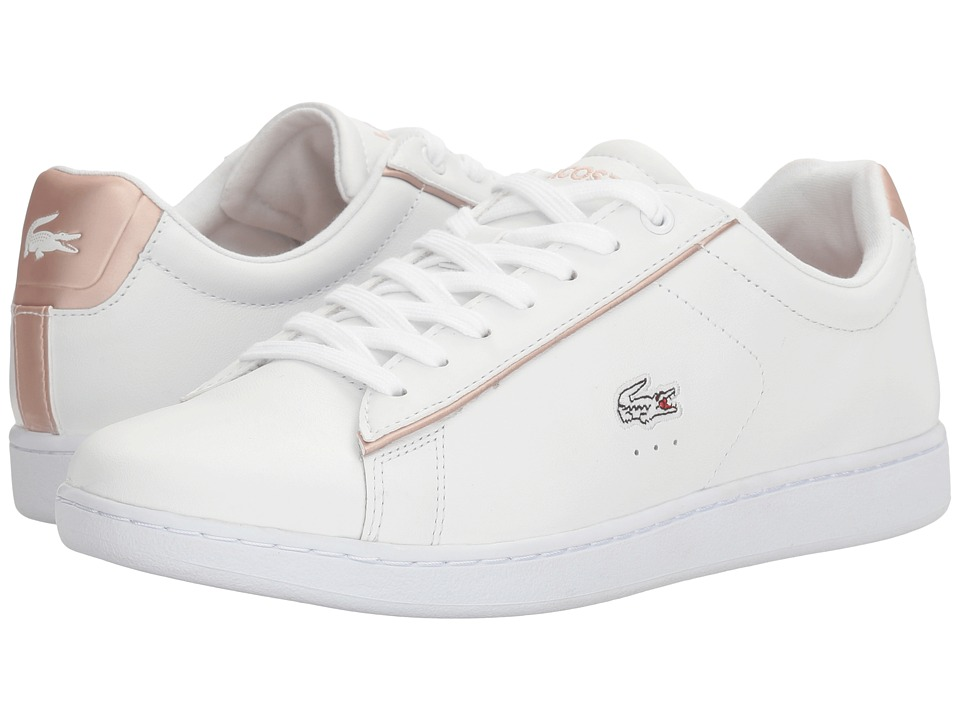 Lacoste Carnaby Evo 217 2 (White/Light Pink) Women