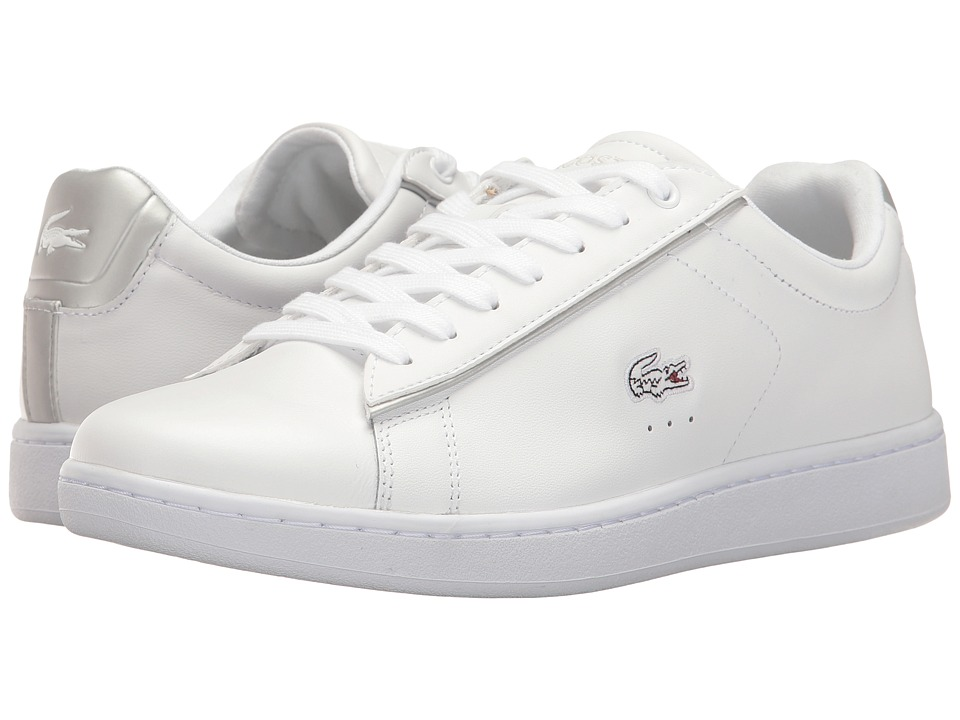 Lacoste Carnaby Evo 217 2 (White/Light Grey) Women