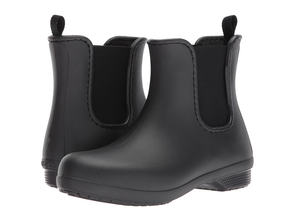 Crocs Freesail Chelsea Boot (Black/Black) Women