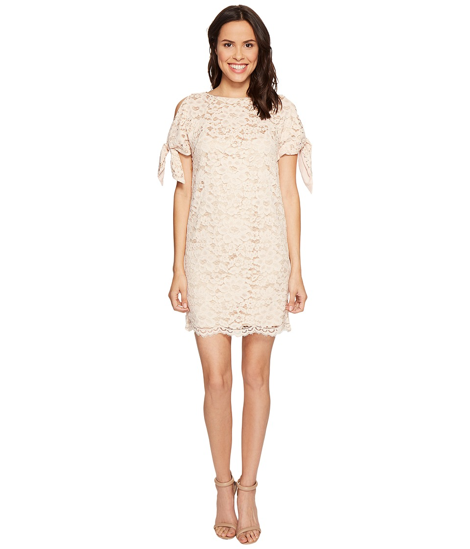 Vince Camuto Lace Shift with Knotted Sleeves (Blush) Women