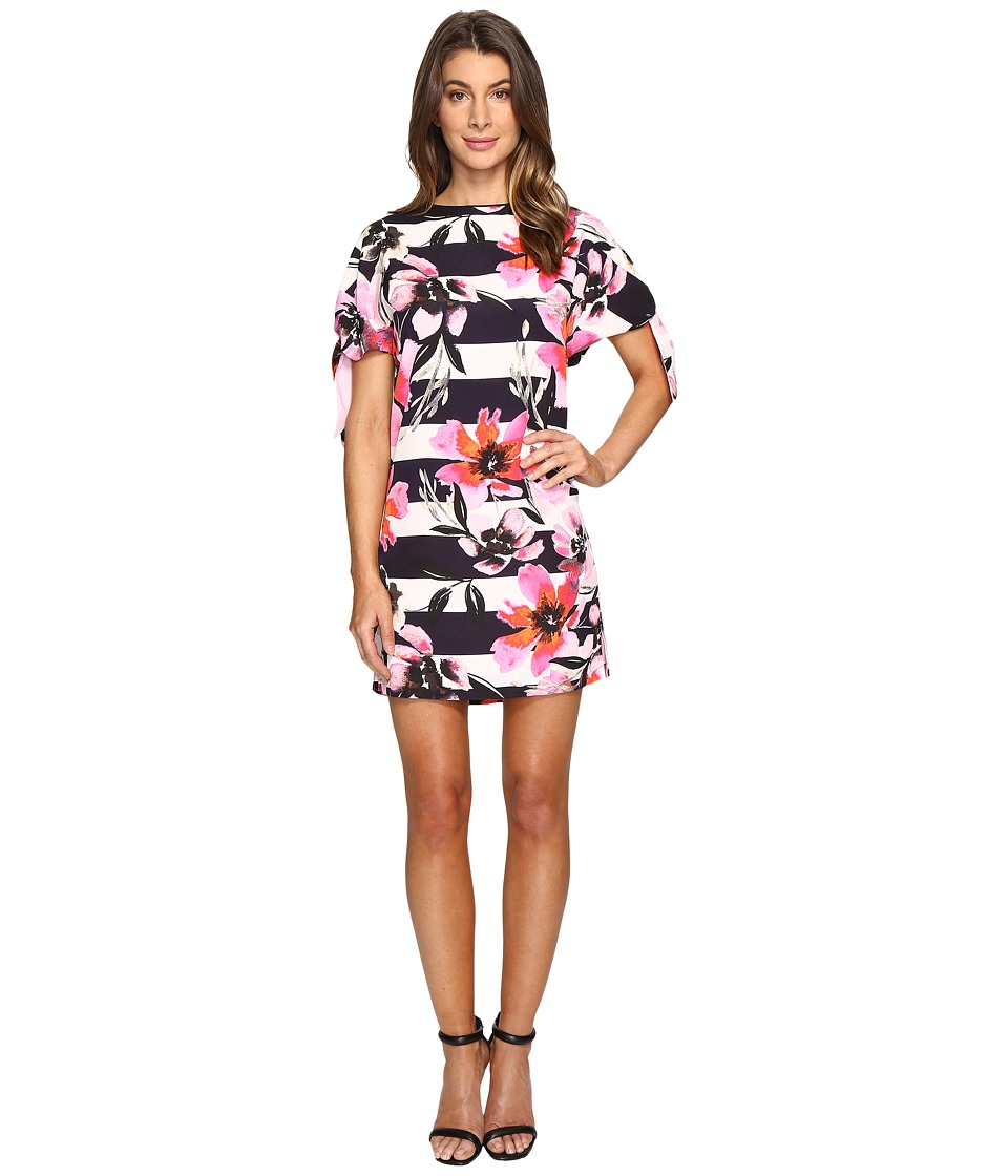 Vince Camuto CDC Shift Dress with Knotted Sleeves (Pink Multi) Women