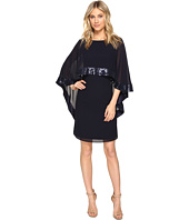 Vince Camuto - Mini Dress with Cape Back Overlay and Sequin Trim