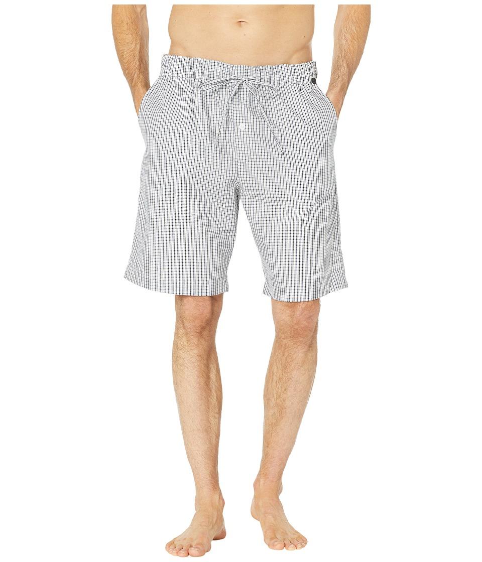 Hanro Night Day Short Woven Pants (Basic Shaded Check) Me...