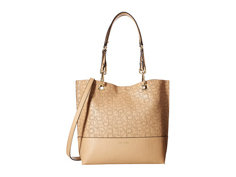 Calvin Klein Unlined Tote - Nude