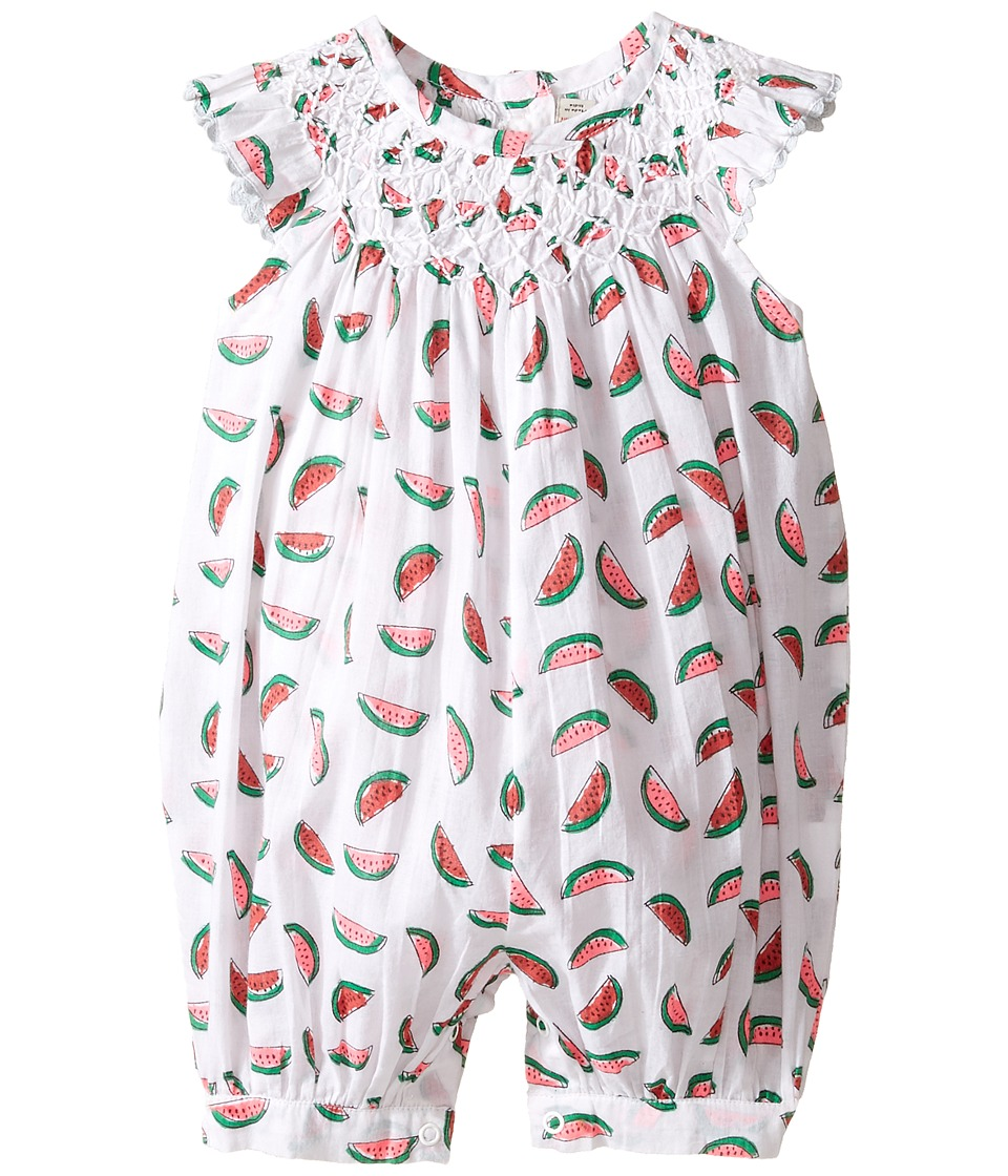 Stella McCartney Kids - Sun Smocked Romper with Watermelon Print