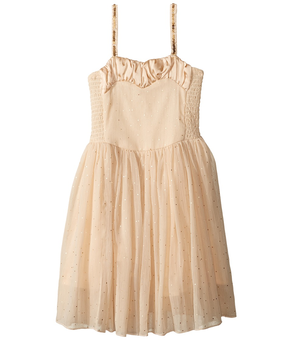Stella McCartney Kids - Sweetie Dress w/ Gold Polka Dots Sequined Straps