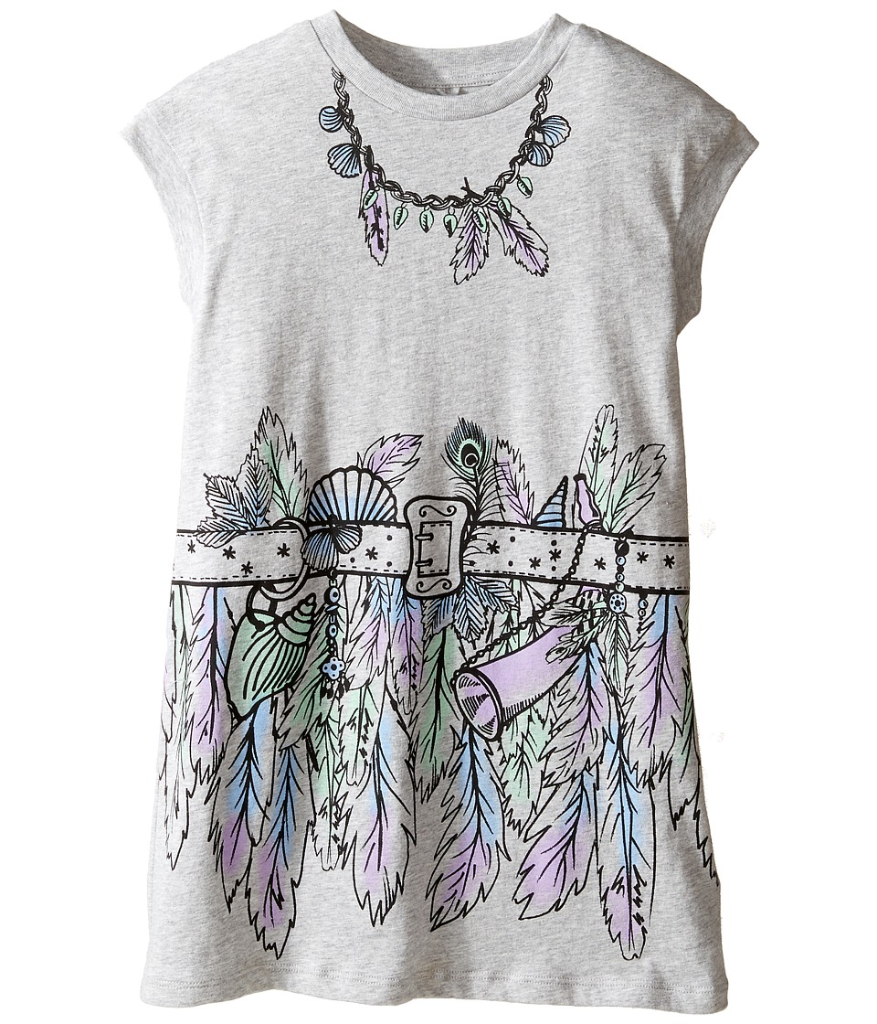 Stella McCartney Kids - Joni Jersey Dress with Feather and Belt Graphic