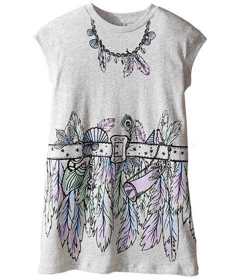 Stella McCartney Kids Joni Jersey Dress with Feather and Belt Graphic (Toddler/Little Kids/Big Kids)