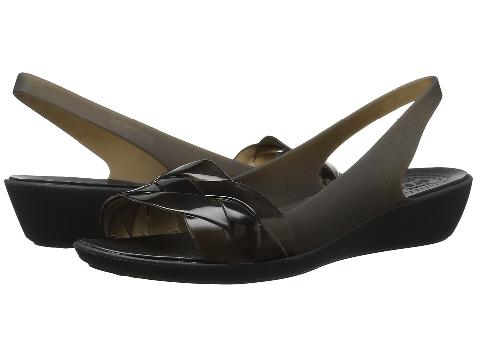 Crocs - Isabella Slingback (Black/Black) Women's Sandals