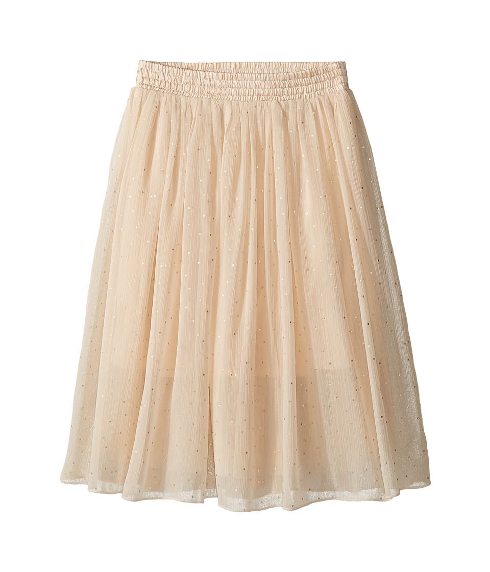 Stella McCartney Kids - Amalie Long Flowy Skirt w/ Gold Polka Dots