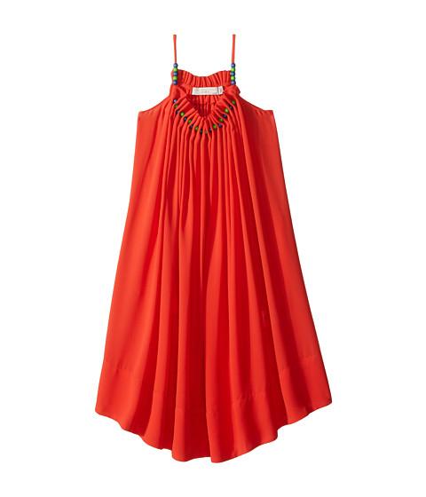 Stella McCartney Kids Hope Flowing Crepe Dress w/ Beaded Neckline (Toddler/Little Kids/Big Kids)
