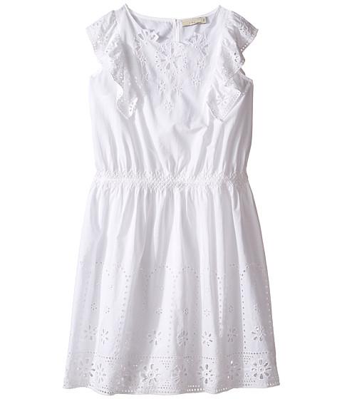 Stella McCartney Kids Alabama Flutter Sleeve Eyelet Dress (Toddler/Little Kids/Big Kids)