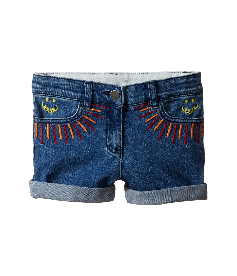 Stella McCartney Kids - Eddie Rainbow Embroidered Denim Shorts
