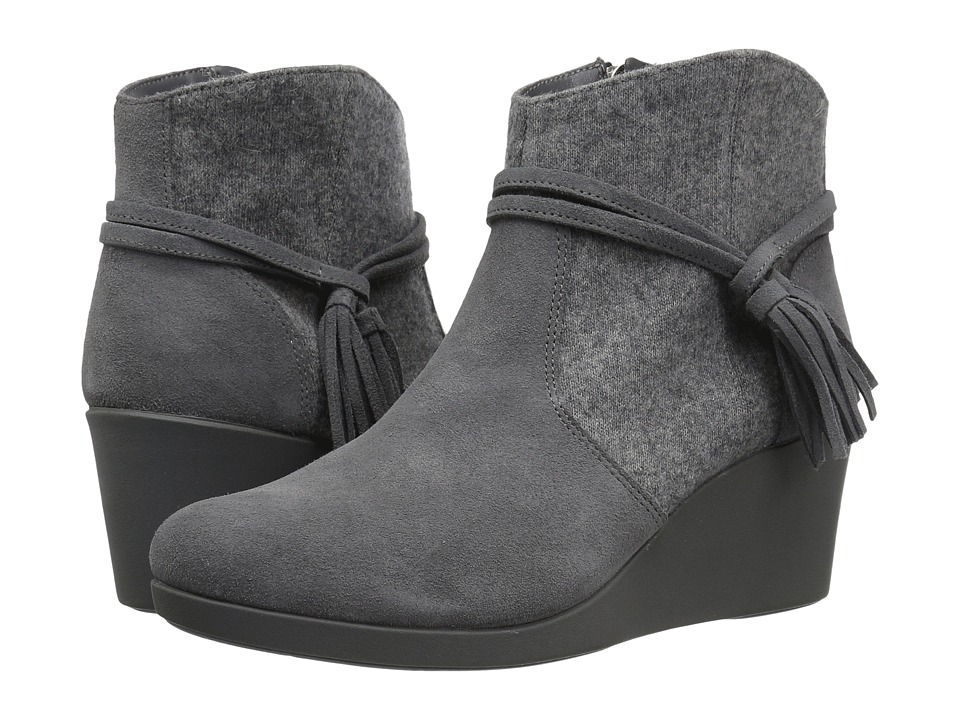 Crocs Leigh Suede Mix Bootie (Slate Grey) Women