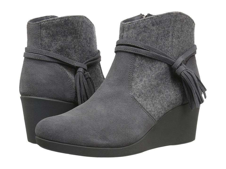 Crocs Leigh Suede Mix Bootie (Slate Grey) Women