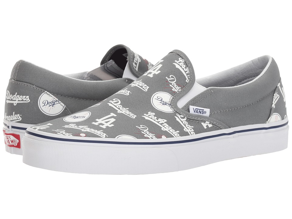 Vans Classic Slip-On x MLB Collaboration ((MLB) Los Angeles/Dodgers/Gray) Shoes