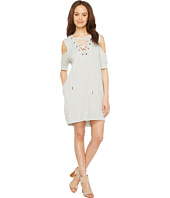 Blank NYC - Sweatshirt Dress with Lace Detailing in Negative Space