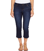 Liverpool - Petite Milly Hugger Capris with Shaping and Slimming Four-Way Stretch Denim in Corvus Dark