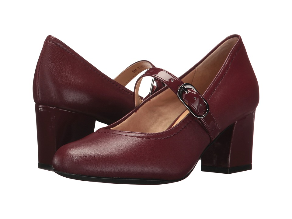 Trotters Candice (Dark Red Smooth Leather/Patent) High Heels