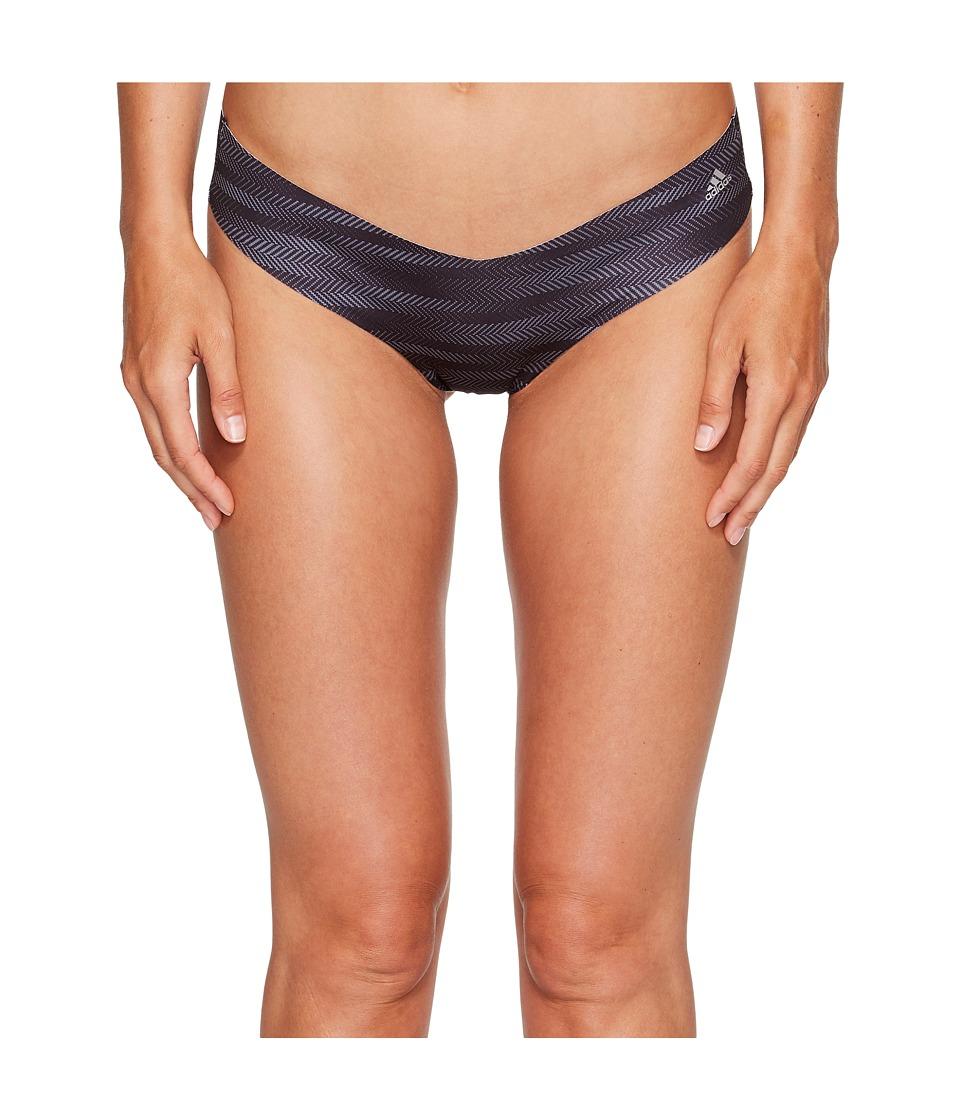adidas - Seamless Underwear Single Thong (Ratio Print Black/Matte Silver) Women's Underwear