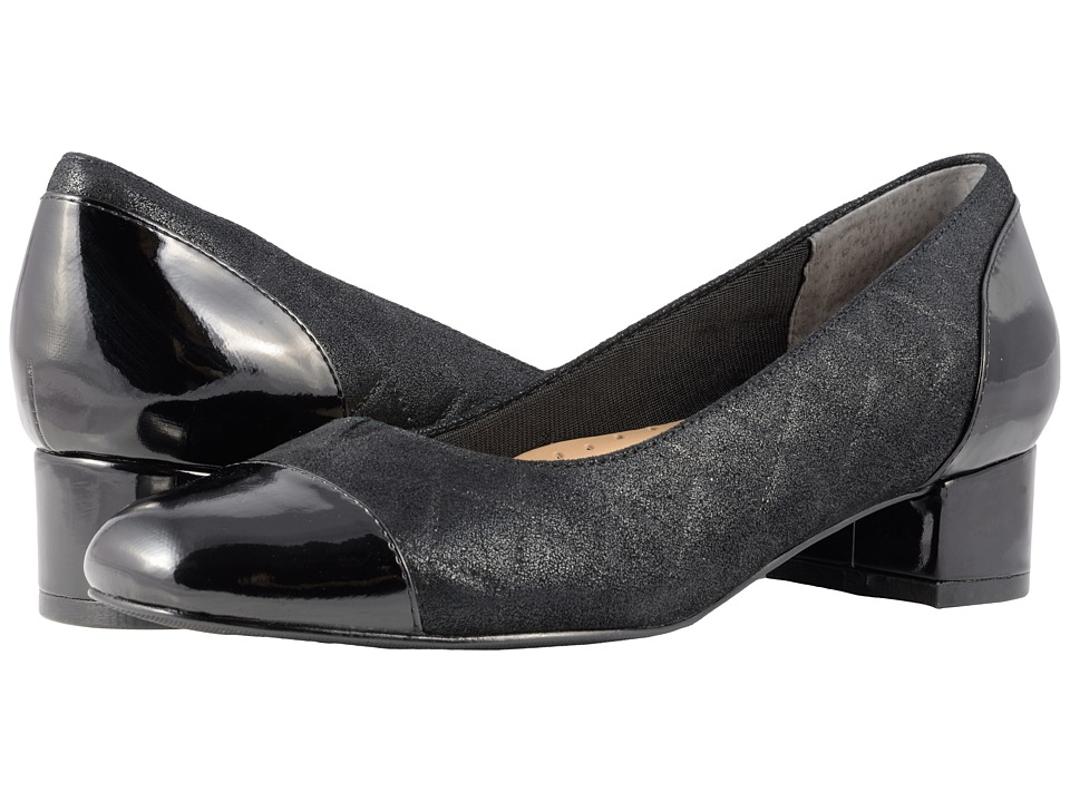 Trotters Danelle (Black Quilted) Women