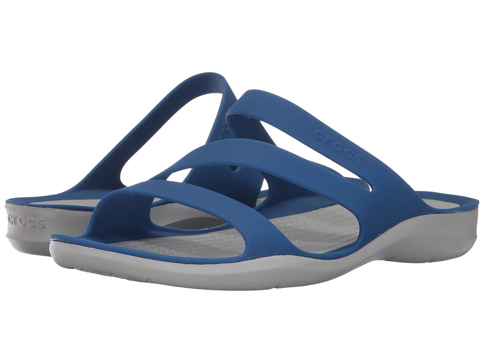 Crocs - Swiftwater Sandal (Blue Jean/Pearl White) Women's Sandals