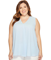 Vince Camuto Specialty Size - Plus Size Sleeveless V-Neck Drape Front Blouse