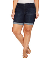 Liverpool - Plus Size Corine Walkshorts Rolled-Cuff on Vintage Super Comfort Stretch Denim in Vintage Super Dark