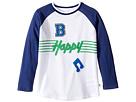 Stella McCartney Kids - Max 'B Happy' Raglan Mesh T-Shirt (Toddler/Little Kids/Big Kids)