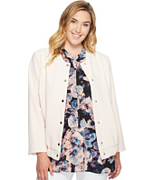 Vince Camuto Specialty Size - Plus Size Snap Front Blistered Texture Bomber Jacket